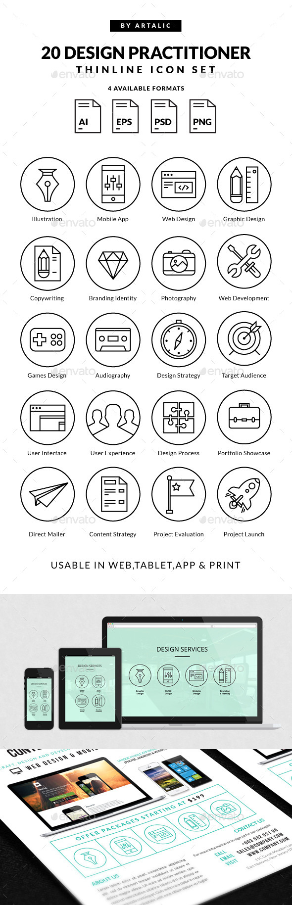 GraphicRiver Design Practitioner Icons 9736108