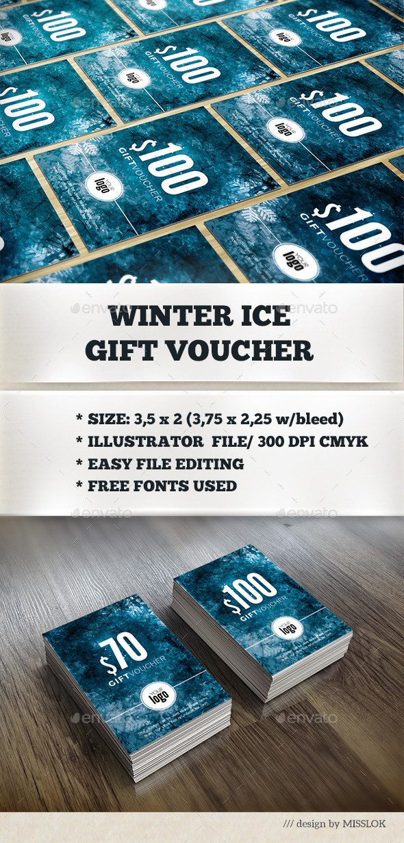 GraphicRiver Winter Ice Gift Voucher 9624227