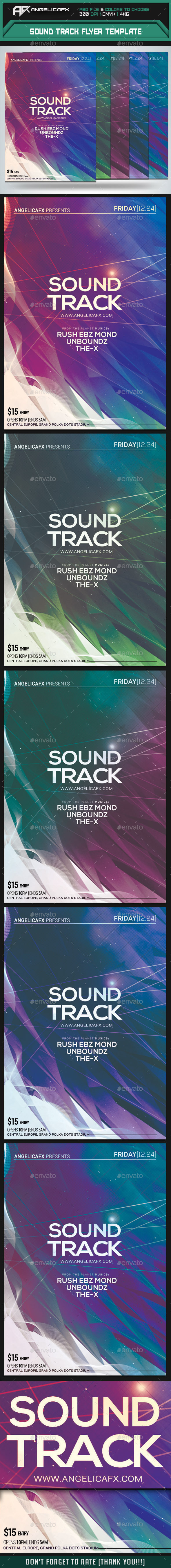 GraphicRiver Sound Track Flyer Template 9736414