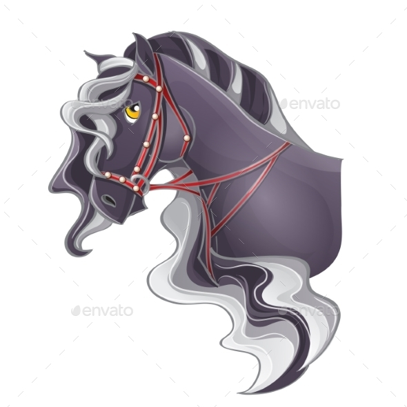 GraphicRiver Picture of a Horse s Head 9736576