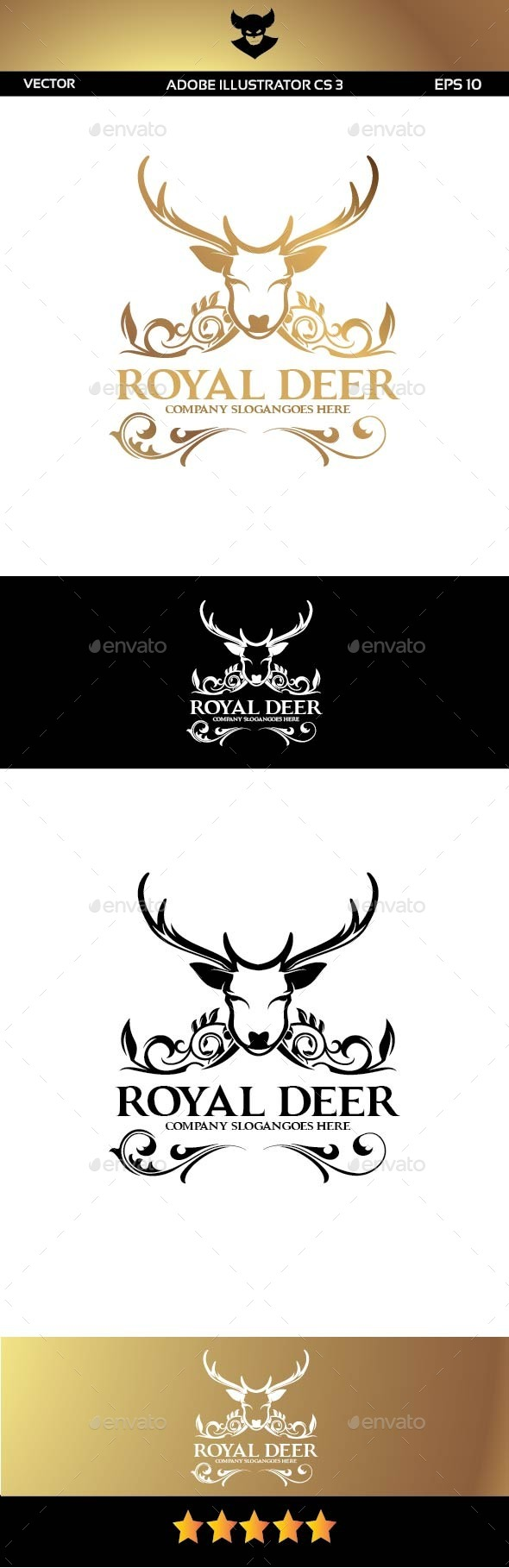 GraphicRiver Royal Deer Logo 9736968