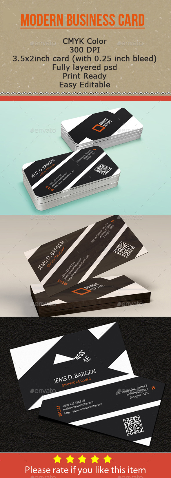 GraphicRiver Modern Business Card 9737138