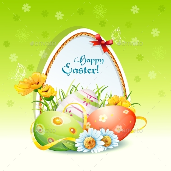 GraphicRiver Happy Easter Card 9737656