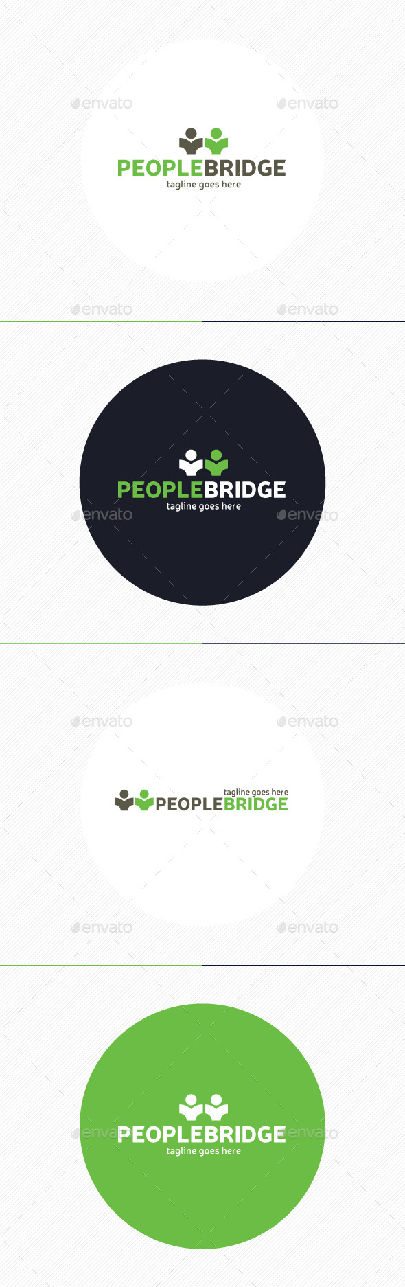 GraphicRiver People Bridge Logo 9737746