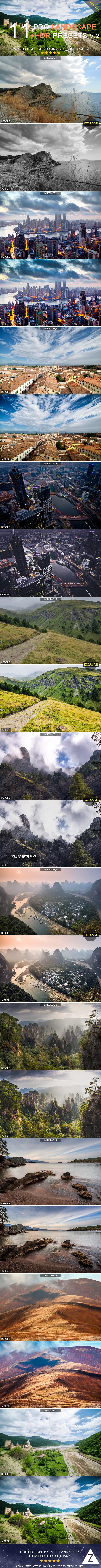 GraphicRiver 11 Pro Landscape&HDR Presets v.2 9737877