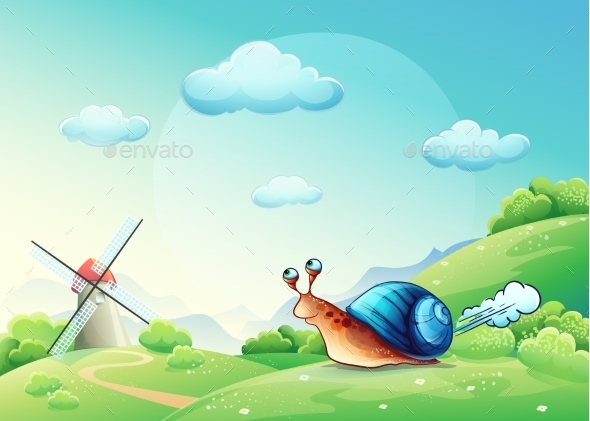 GraphicRiver Snail on a Meadow 9738225