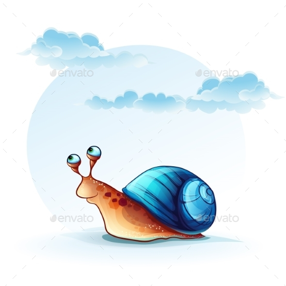 GraphicRiver Cheerful Snail 9738231