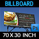 Italian Restaurant Billboard Template - GraphicRiver Item for Sale