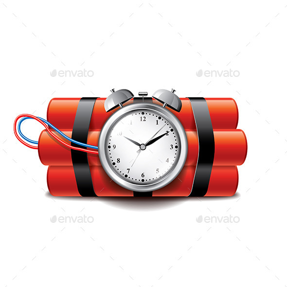 GraphicRiver Bomb with Clock Timer 9738273