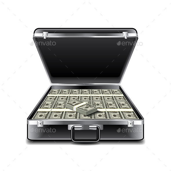 GraphicRiver Suitcase Full of Money 9738324