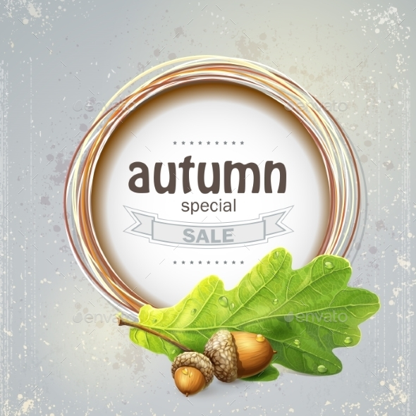 GraphicRiver Autumn Sale with Oak 9738353