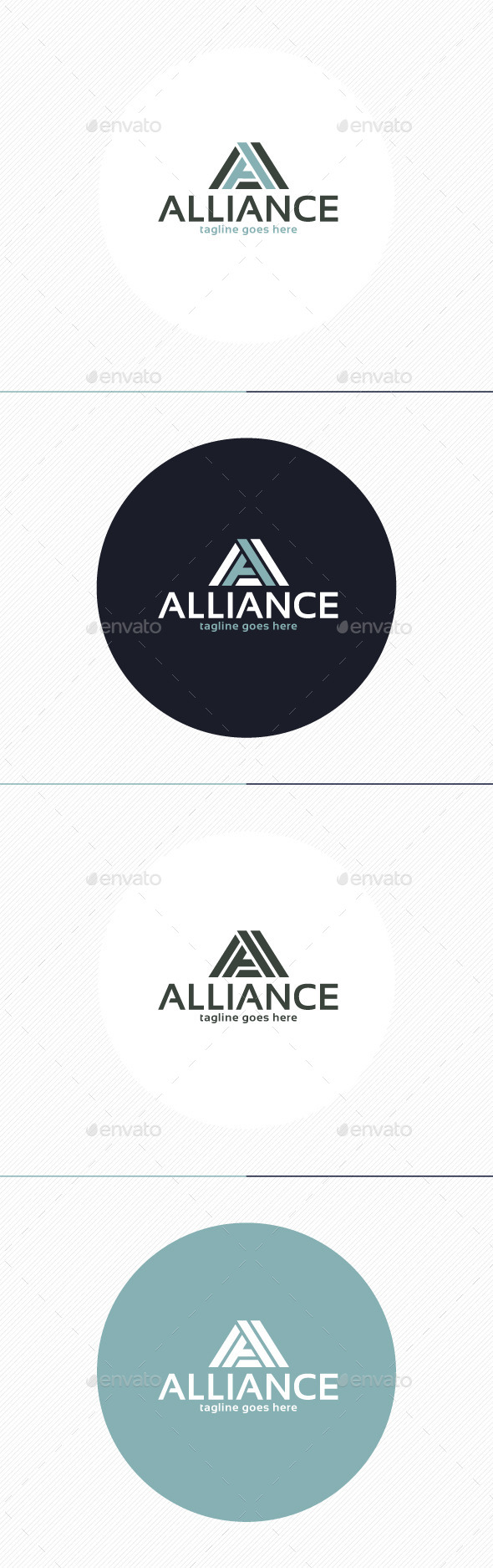 GraphicRiver Alliance Logo Letter A 9738361