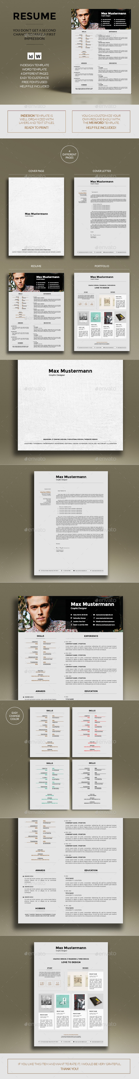 GraphicRiver Resume 9738460