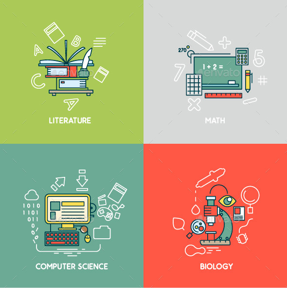 GraphicRiver Math Literature Computer Science and Biology 9738478