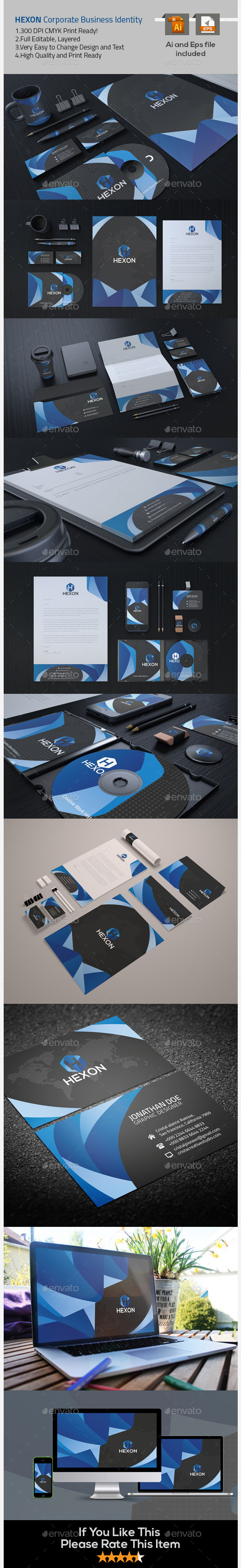 GraphicRiver Hexon Corporate Business Identity 9687741