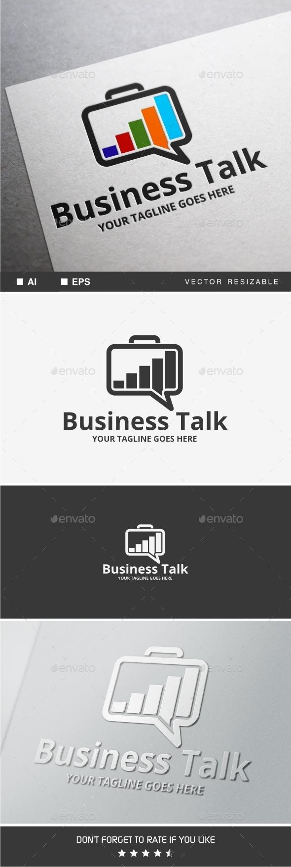 GraphicRiver Business Talk Logo 9738794