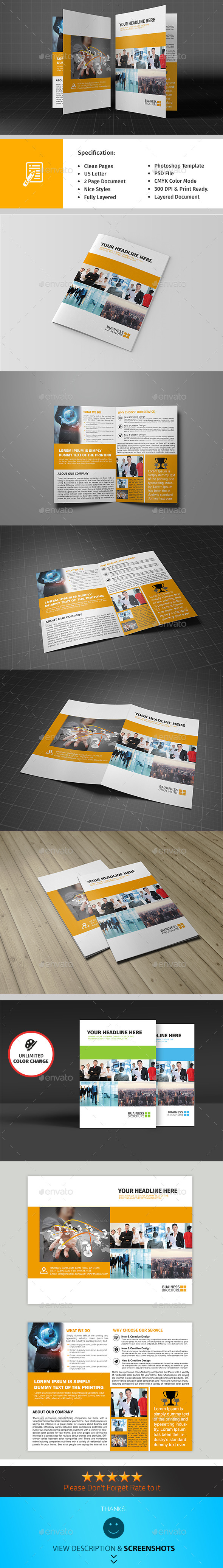 GraphicRiver Bifold Corporate Brochure Template Vol04 9738937