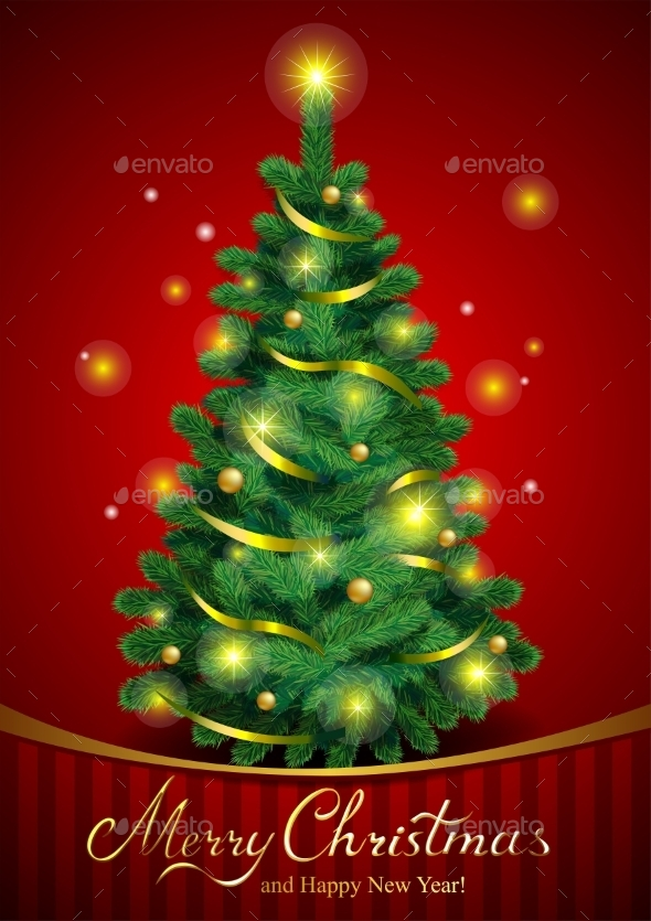 GraphicRiver Classic Christmas Tree 9738979