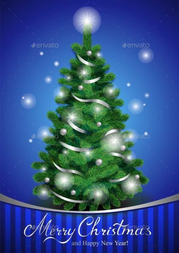 GraphicRiver Classic Christmas Tree 9738984
