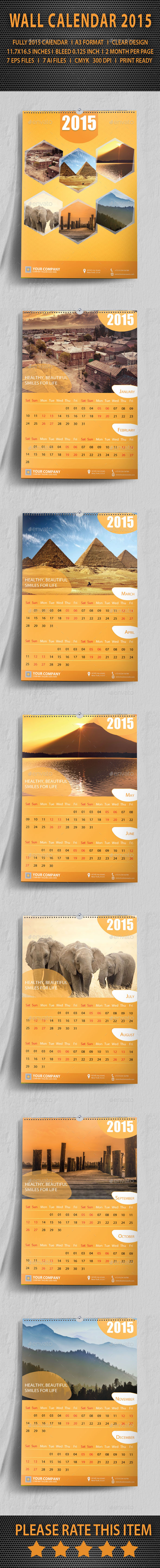 GraphicRiver Wall Calendar 2015 9686692