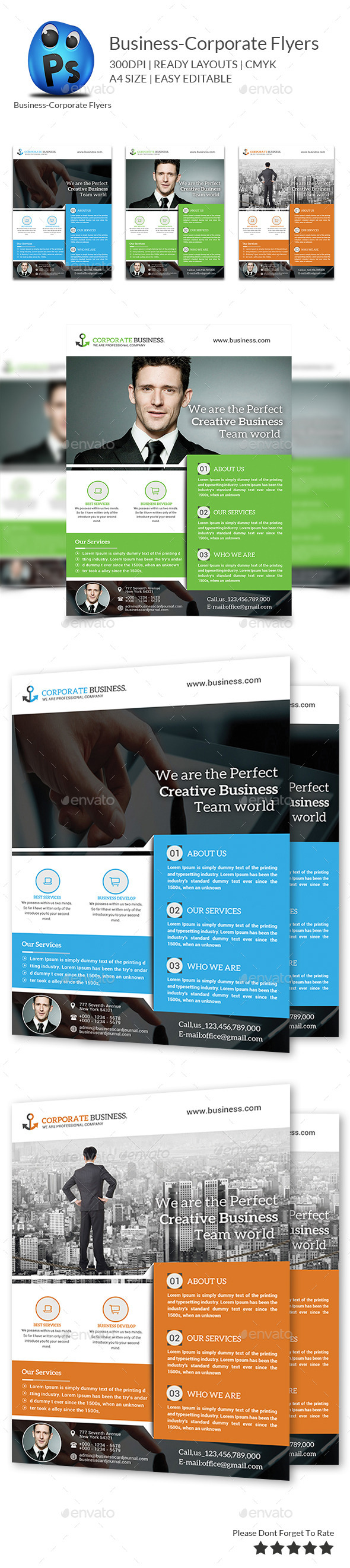 GraphicRiver Best Business Flyers Templates 9739031