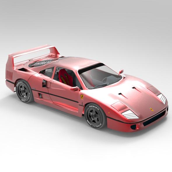 Concept Car Ferrari F40 - 3DOcean Item for Sale