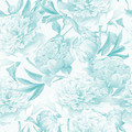Seamless vintage floral watercolor background with blue peonies - PhotoDune Item for Sale