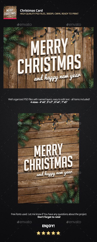 GraphicRiver Christmas Card 9739049