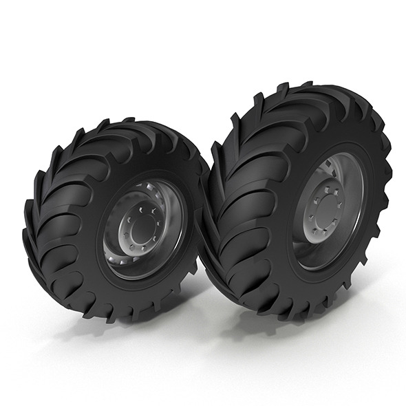 Tractor Tires - 3DOcean Item for Sale