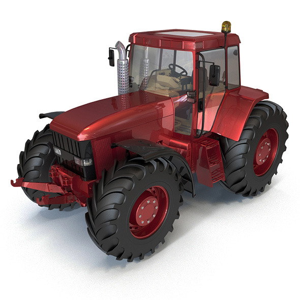 Red Tractor - 3DOcean Item for Sale