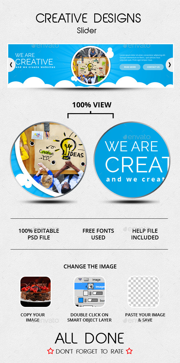 Creative Designs Slider