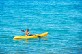 Woman Kayaking in the Ocean on Vacation - PhotoDune Item for Sale