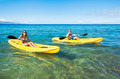 Man and Woman Kayaking in the Ocean - PhotoDune Item for Sale