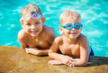 Two Young Boys Having fun at the Pool - PhotoDune Item for Sale