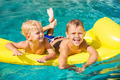 Kids Enjoying Summer Day at the Pool - PhotoDune Item for Sale