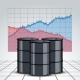 Oil Barrels on a Price Chart Background - GraphicRiver Item for Sale