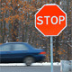 Stop Sign with Traffic Cars - VideoHive Item for Sale
