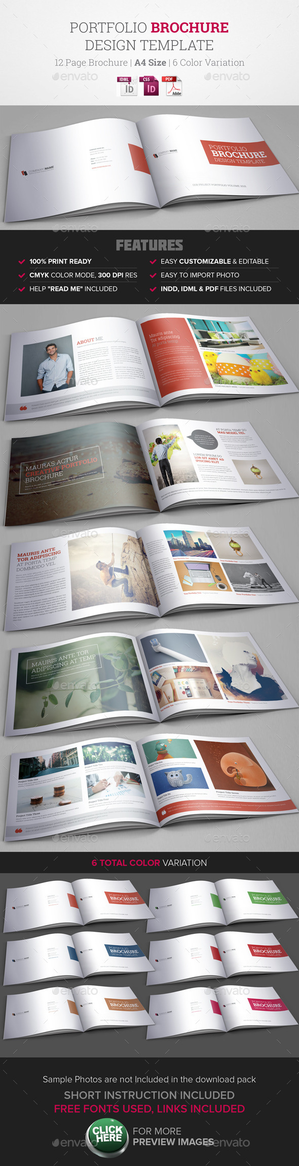 GraphicRiver Portfolio Brochure InDesign Template 9740942