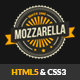 Mozzarella HTML5 and CSS3 Cafe Bar Template - Food Retail