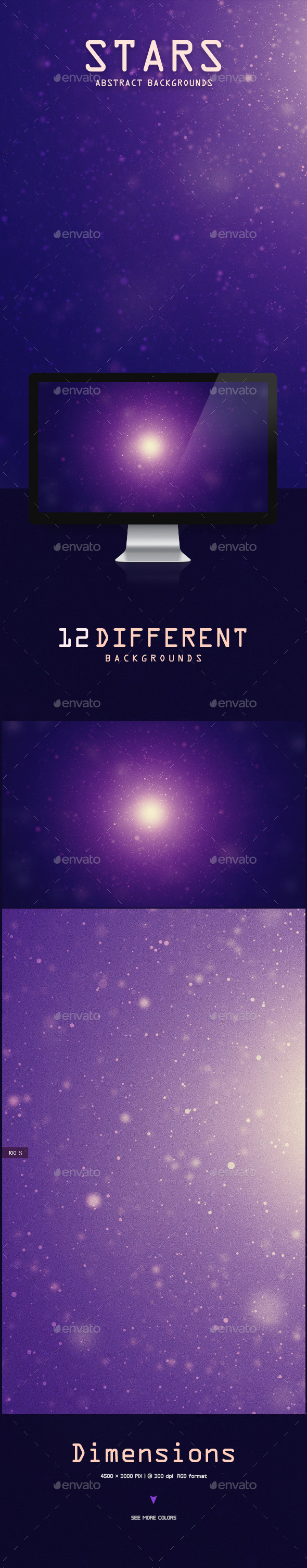 GraphicRiver Stars Abstract Backgrounds 9741474