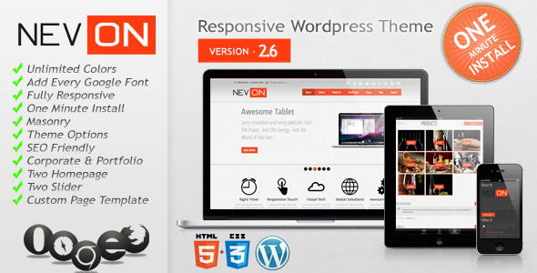 Nevon Responsive Business Portfolio Theme - Creative WordPress