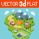 Outdoor Active Vacation Isometric Design - GraphicRiver Item for Sale