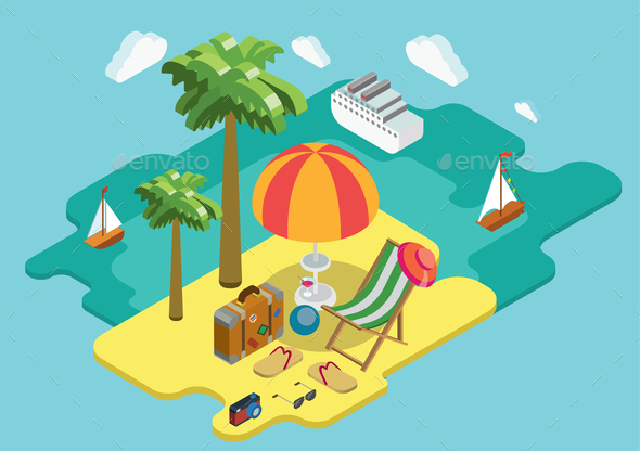 GraphicRiver Ocean Cruise Summer Vacation Concept 9741788