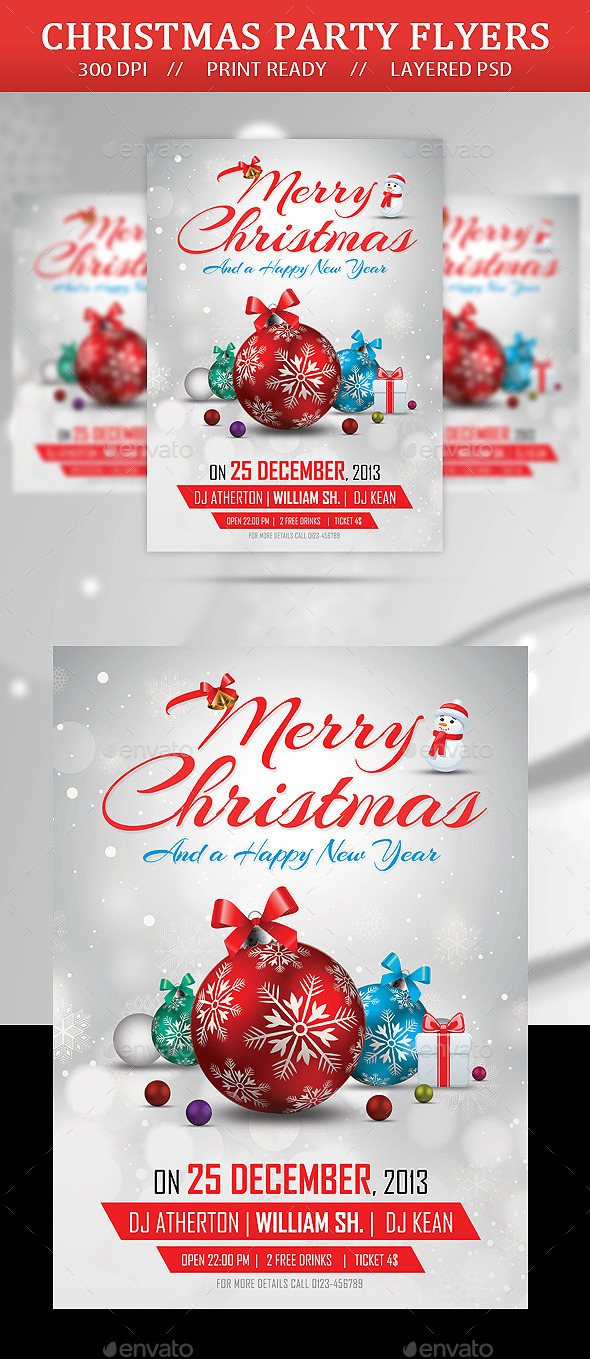 GraphicRiver Merry Christmas Party Flyer 9741794