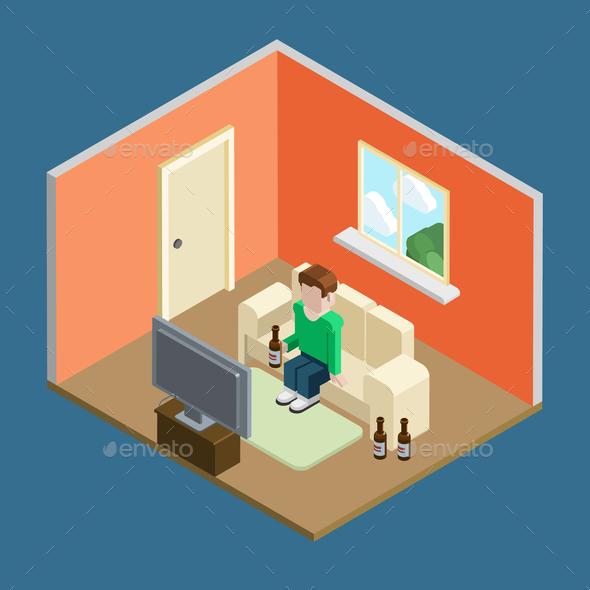 GraphicRiver Home Liesure Man 9741796