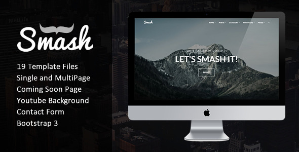 ThemeForest Smash Responsive Bold Multipage Onepage Template 9741965