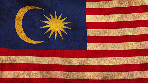 Malaysia Flag 2 Pack Grunge and Retro