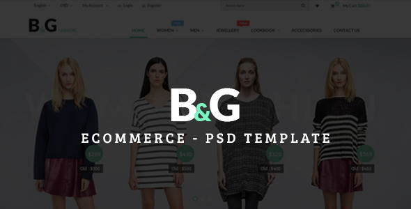 ThemeForest B&G Ecommerce PSD Template 9742243