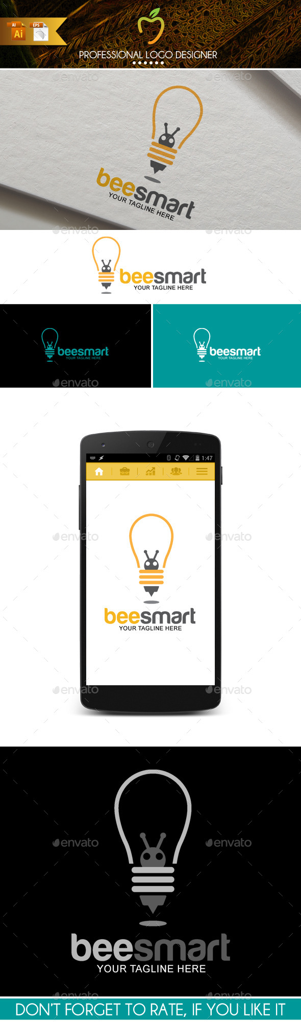 GraphicRiver Bee Smart Logo 9742245
