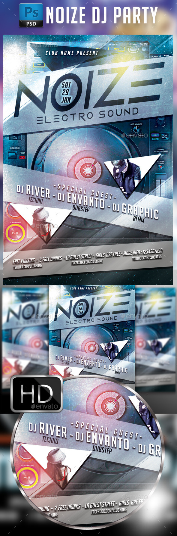 GraphicRiver Electro Music #2 9677417